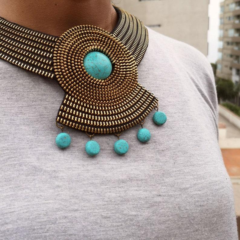 fa2c0a541e57 10% OFF collar de cierres collar de metal collar artesanal