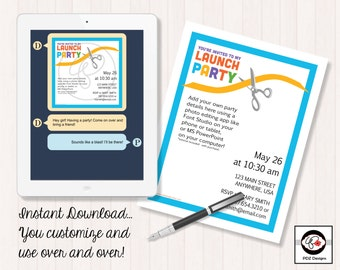 Business Launch Party - Skincare Business Invitation - Ribbon Cutting Invitation - Direct Sales Launch - Business Party Invitation - Digital