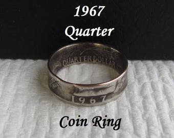 1967 coin ring | Etsy
