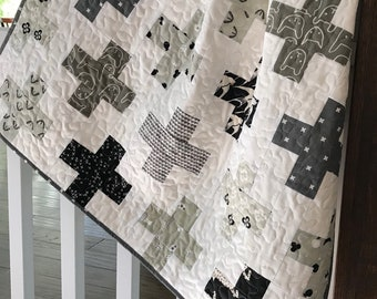 Modern Simple Plus Baby Quilt