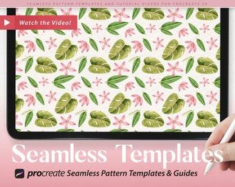 Create Seamless Patterns in Procreate // 4 Pattern Templates & Video Tutorial