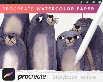 Storybook Watercolor Paper Texture for Procreate
