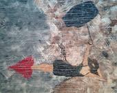 "Black Dress In The Rain Original Contemporary Wall Art 24""x30"""