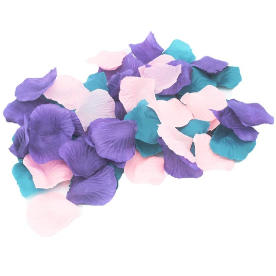 Rose Petals silk wedding table confetti Turquoise Aqua