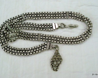 vintage antique tribal old silver belt belly chain hip chain body chain necklace