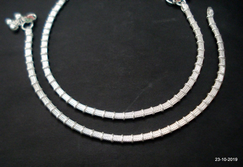 ethnic silver anklet feet bracelet ankle chain anklet pair feet chain