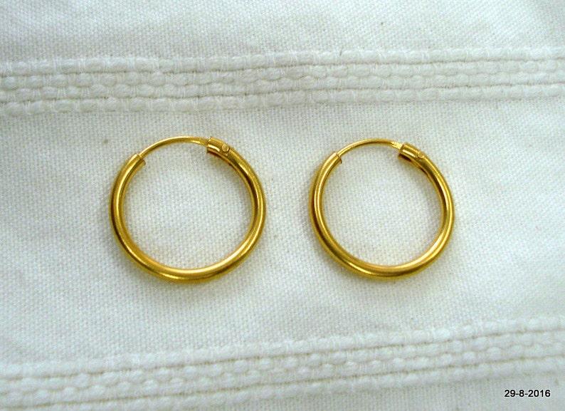 8c9b7224bcc69 traditional design 20kt gold earrings upper ear earrings infant hoop  earrings