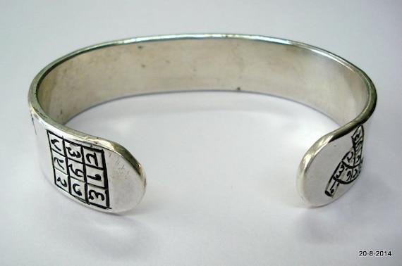 Pure Silver Jain Navkar Maha Mantra Bracelet Bangle Cuff Kada Etsy