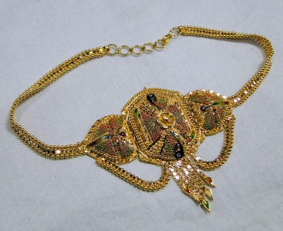 vintage 22kt gold bracelet upper arm bracelet arml