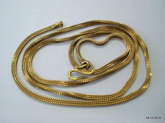 20k gold chain necklace vintage antique old indian