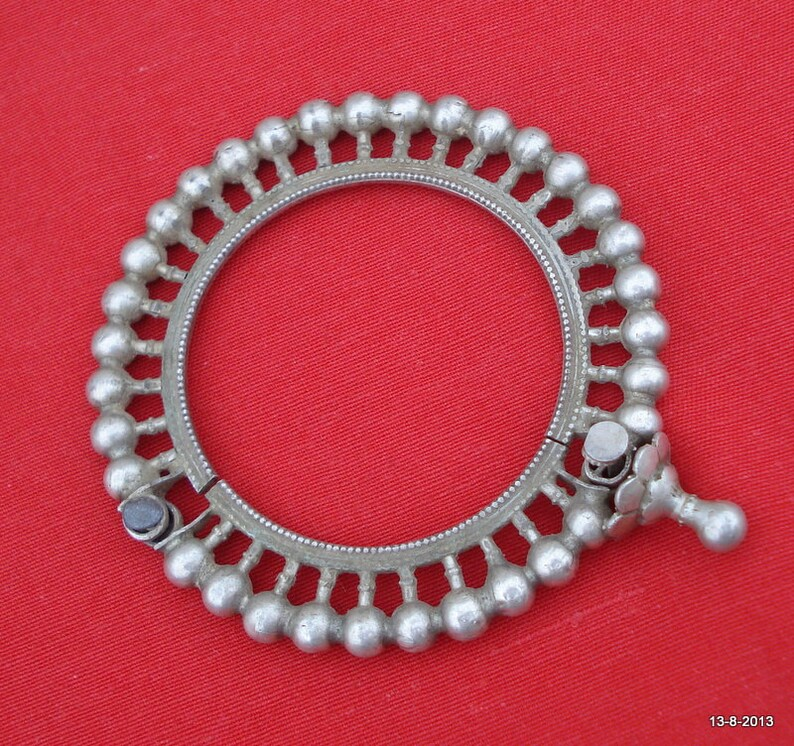 vintage antique tribal old old silver bracelet bangle traditional jewelry