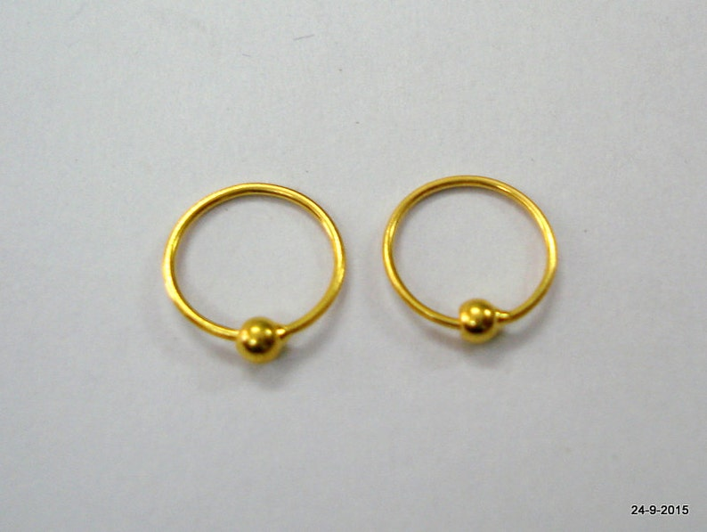 a5d51221f6b22 18kt gold earrings upper ear earrings infant hoop earrings cartilage  earrings