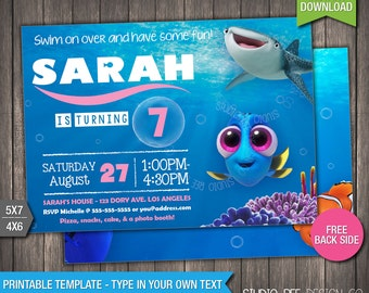 50 Off Finding Dory Invitation Instant Download Etsy