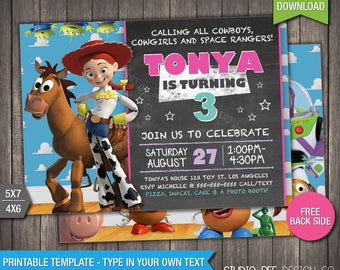 toy story invites templates free