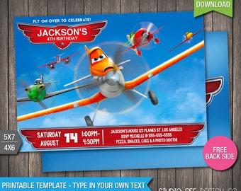 Planes Birthday Invitation - INSTANT DOWNLOAD - Printable Disney Planes Birthday Invite - DIY Personalize & Print - pl274