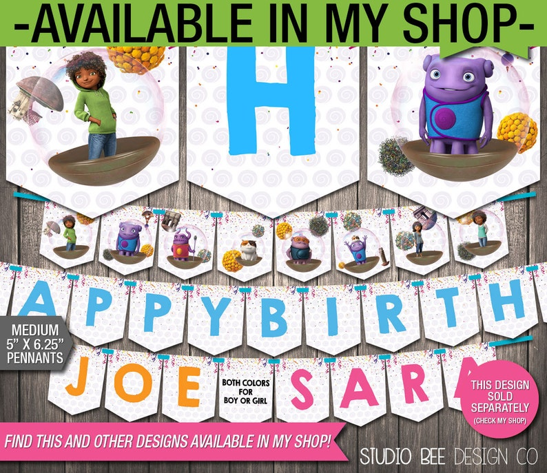 HMlc03 INSTANT DOWNLOAD Centerpiece Plate Insert Dreamworks Home Party Circles DIY Personalize /& Print Printable 5 Inch