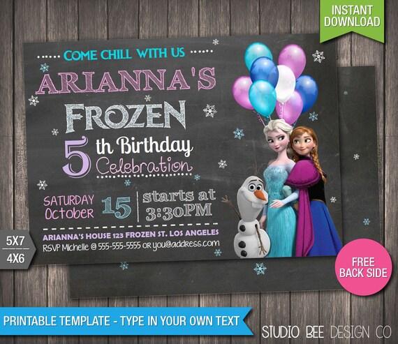 Frozen Invitation 85 OFF INSTANT DOWNLOAD Printable