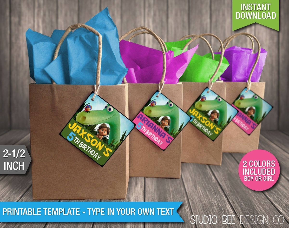 The Good Dinosaur Favor Tags INSTANT DOWNLOAD Printable