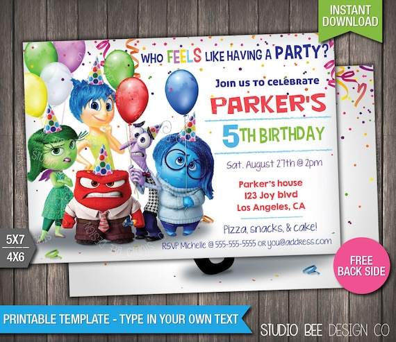 85 off inside out invitation instant download printable etsy