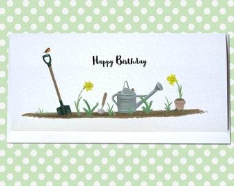 Personalised Garden Birthday Card