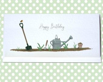 Personalised Gardening Birthday Card