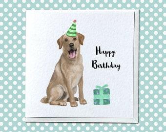 Personalised Golden Labrador Birthday Card