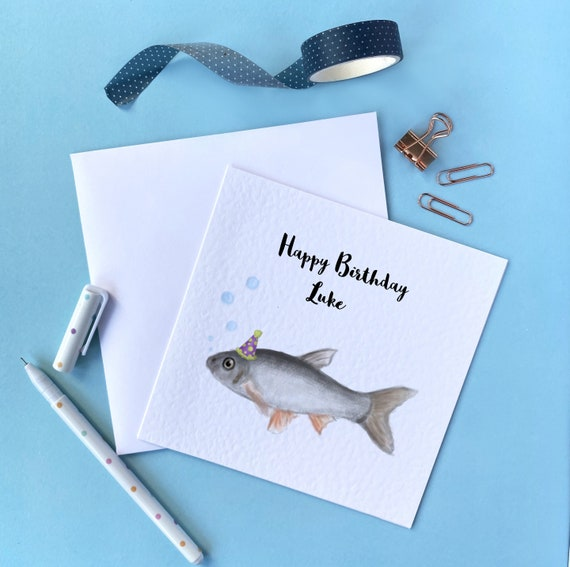 Personalised Birthday Card for FISHERMEN-ANGLERS-FISHING any name etc....!