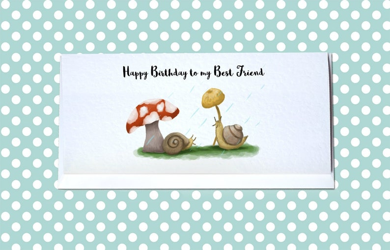 Personalised Snails Birthday Card Cute Snail
