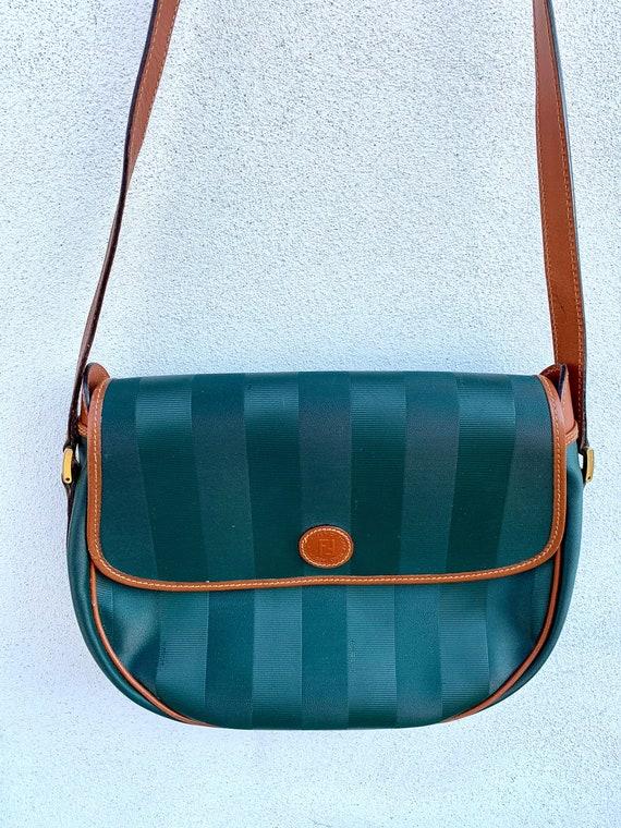 Fendi Pequin vintage saddle bag