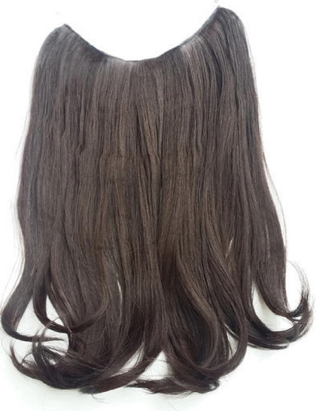 Hair Fusion Invisiblemicro Loop Headband Secret Extensions Halo Style Hair Multi Colors Salon Inspired Chocolate Brown