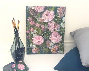 Secret garden - original acrylic painting