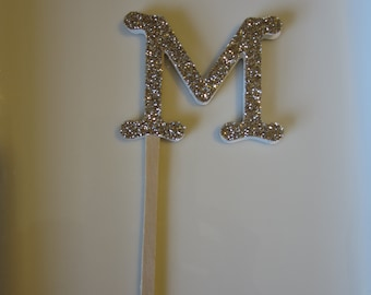 Glitter Initial Cupcake Picks 6CT