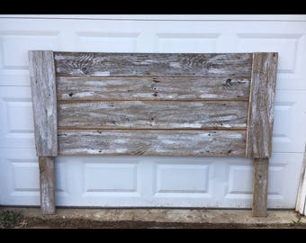 Barnwood Headboard. Whitewashed Headboard. Rustic Headboard. Queen Headboard. King Headboard. Rustic Home Decor. Farmhouse Headboard