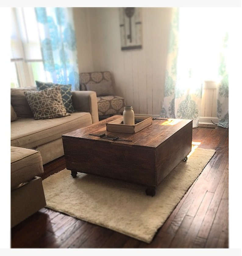 Rustic Coffee Table Reclaimed Wood Rustic Home Decor Etsy