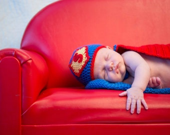Superman/Supergirl baby outfit