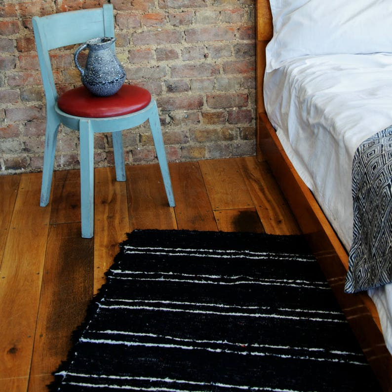 Black and White Rugs Beni ourain rug Modern rug Pattern image 0
