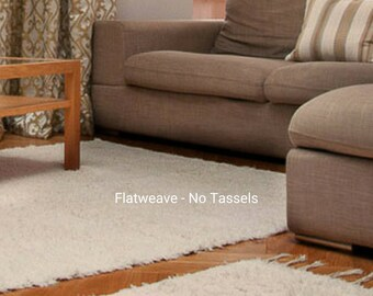 Rugs White Ivory Rugs,  Scandinavian rugs, Nursery rug, Modern rug, area rug, living room rug, bedroom rug, minimalist rug Cotton.