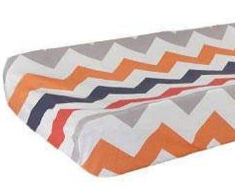 Changing Pad Cover   Chevron Zig Zag Baby In Rugby