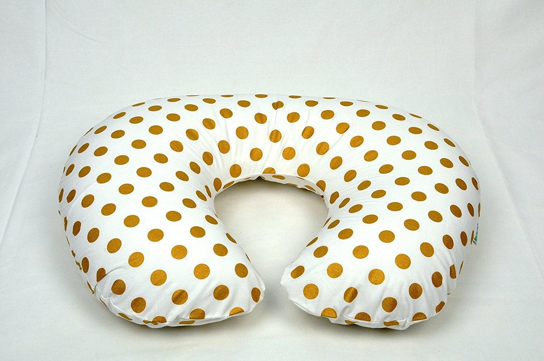 Metallic Medium Gold Dots Boppy Pillow Cover
