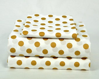 Metallic Medium Gold Dots Sheet Set