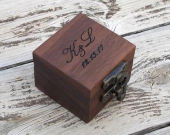 rustic ring bearer box reclaimed wood ring box wood ring box wedding ring box wedding ring holder Proposal ring box wedding ring holder