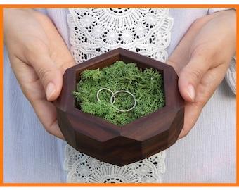 WALNUT rustic ring bearer box reclaimed wood ring box wood ring box wedding  ring holder Proposal ring box wedding ring holder