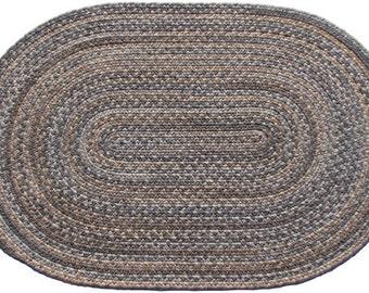 Granite Wool Braided Rug