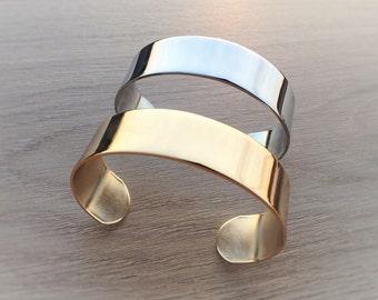 Brass Bracelet Gold or silver in gift box