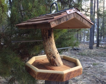 Unique Barnwood and Bird Feeder Pine Functional Father's Day Wedding Gift #0279
