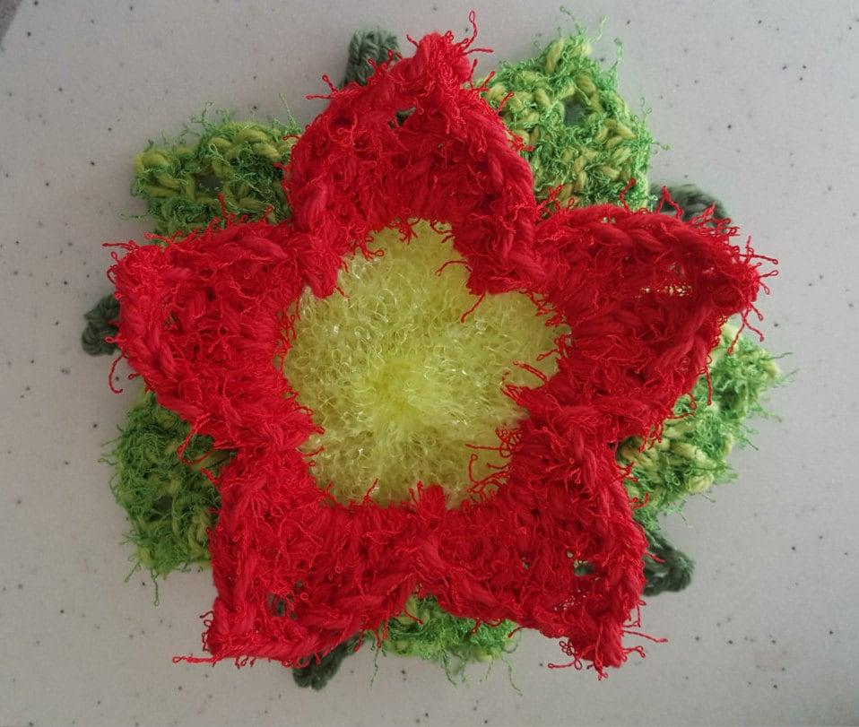 Poinsettia Crochet Scrubby Pattern Etsy