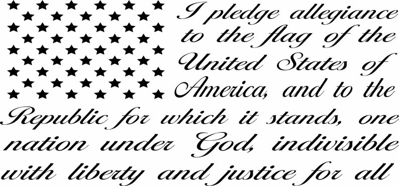 2a4d7cd3f6 USA Flag Pledge Of Allegiance Stars Stripes Vinyl Die Cut