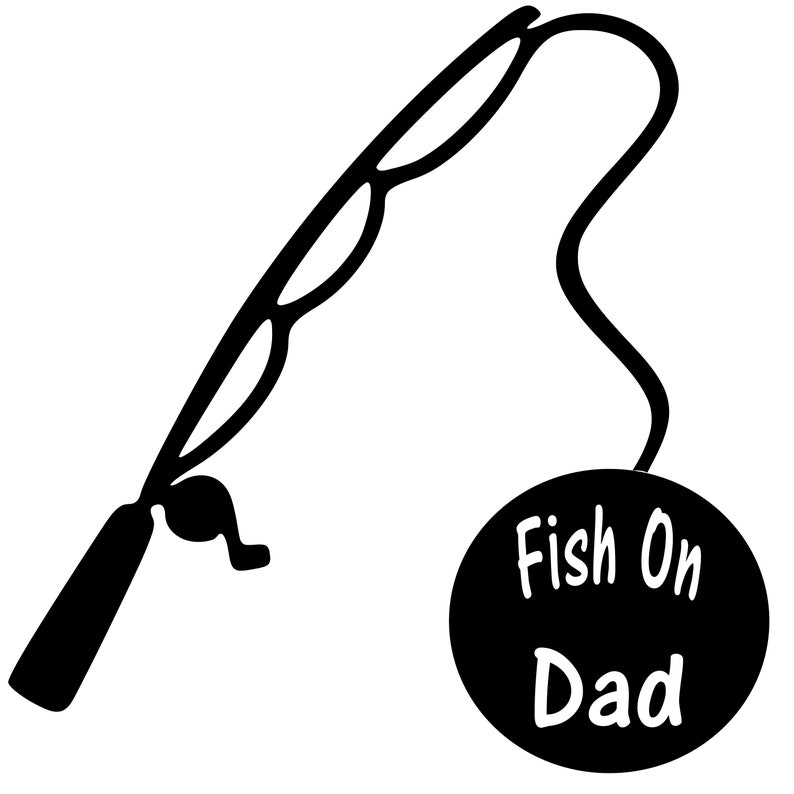 Personalized Custom In Loving Memory Of Dad Fishing Pole Vinyl