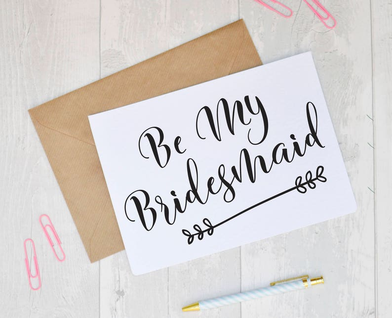 Be My Bridesmaid Greeting Card Proposal Maid Of Honour Flower Girl Choice Wording