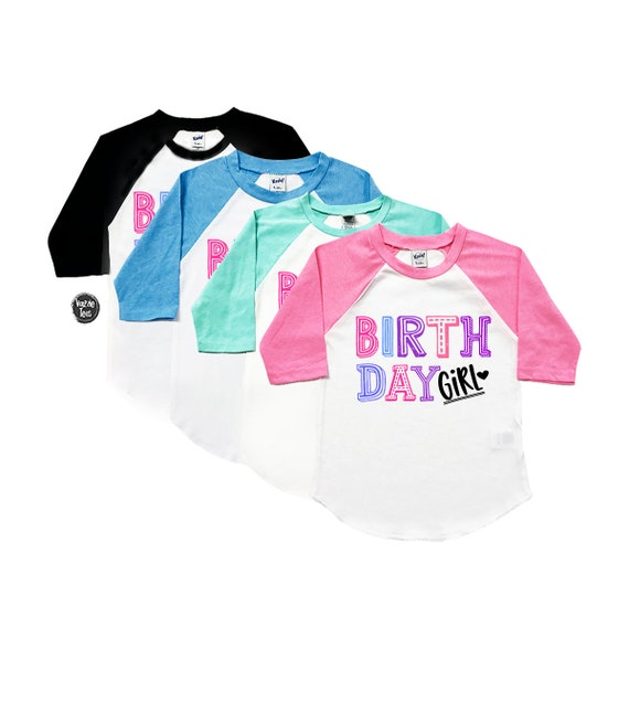 Birthday Girl Shirt Rainbow Pink And Purple